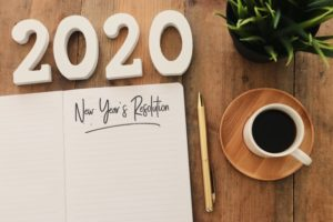 Blank New Year's resolutions list