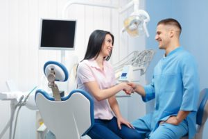 woman visiting dentist in Hoover